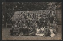 Real Photographic old postcard children CHINA or JAPAN ??  #362